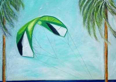 blog-kitesurfing-art_Kite-entre-palmasI.-Oleo-sobre-lienzo-152x124-cm.-Ref.-189-08.-Rusia-Alex-Chevic